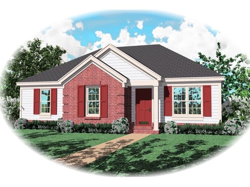 Classic Traditional Ranch With Great Curb Appeal And Brick Accent Wall