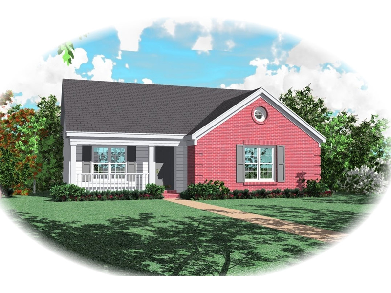 Southern House Plan Front of Home - 087D-0008 | House Plans and More