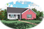 Ranch House Plan Front of Home - 087D-0008 | House Plans and More