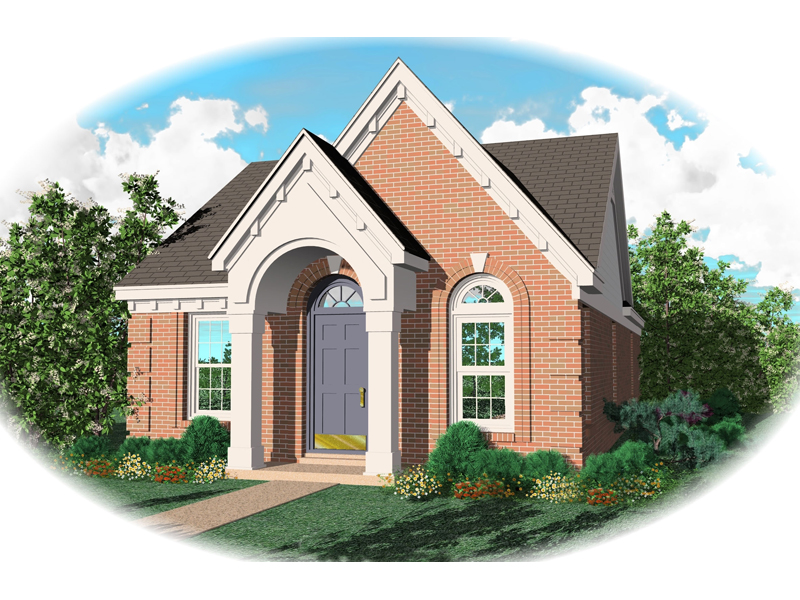 Traditional House Plan Front of Home - 087D-0009 | House Plans and More