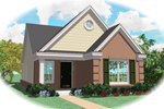 Ranch House Plan Front of Home - 087D-0011 | House Plans and More