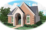 Ranch House Plan Front of Home - 087D-0013 | House Plans and More