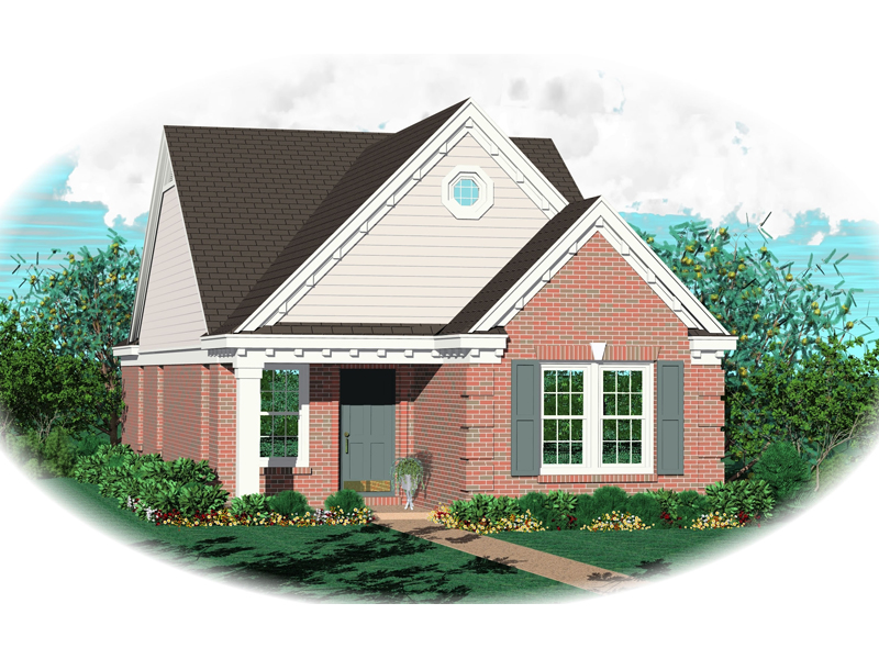 Traditional House Plan Front of Home - 087D-0014 | House Plans and More