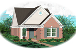 Ranch House Plan Front of Home - 087D-0014 | House Plans and More