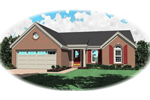 Ranch House Plan Front of Home - 087D-0015 | House Plans and More