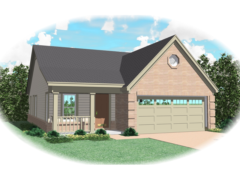 Southern House Plan Front of Home - 087D-0016 | House Plans and More