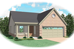 Ranch House Plan Front of Home - 087D-0016 | House Plans and More