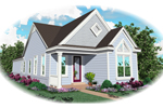 Vacation Home Plan Front of Home - 087D-0017 | House Plans and More