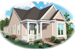 Ranch House Plan Front of Home - 087D-0018 | House Plans and More