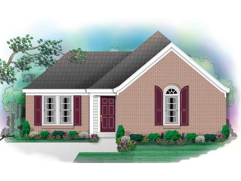 Southern House Plan Front of Home - 087D-0020 | House Plans and More