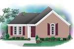 Ranch House Plan Front of Home - 087D-0020 | House Plans and More