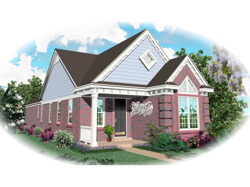 Traditional House Plan Front of Home - 087D-0021 | House Plans and More