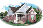 Ranch House Plan Front of Home - 087D-0021 | House Plans and More