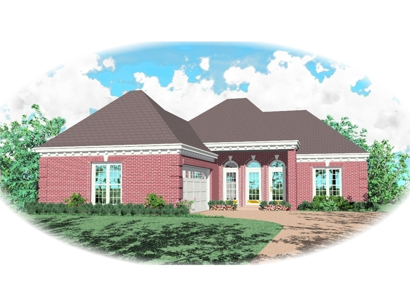Ranch House Plan Front of Home - 087D-0023 | House Plans and More