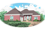 European House Plan Front of Home - 087D-0023 | House Plans and More