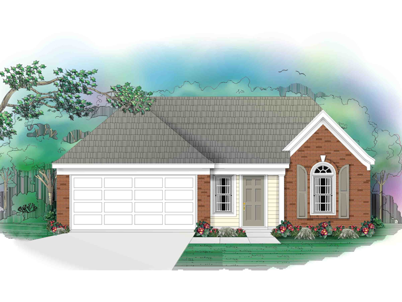 European House Plan Front of Home - 087D-0024 | House Plans and More