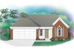 Ranch House Plan Front of Home - 087D-0024 | House Plans and More