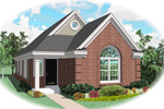 Ranch House Plan Front of Home - 087D-0025 | House Plans and More
