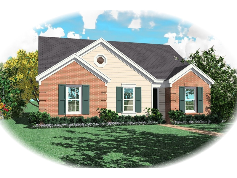 Ranch House Plan Front of Home - 087D-0026 | House Plans and More