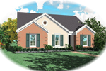 Southern House Plan Front of Home - 087D-0026 | House Plans and More