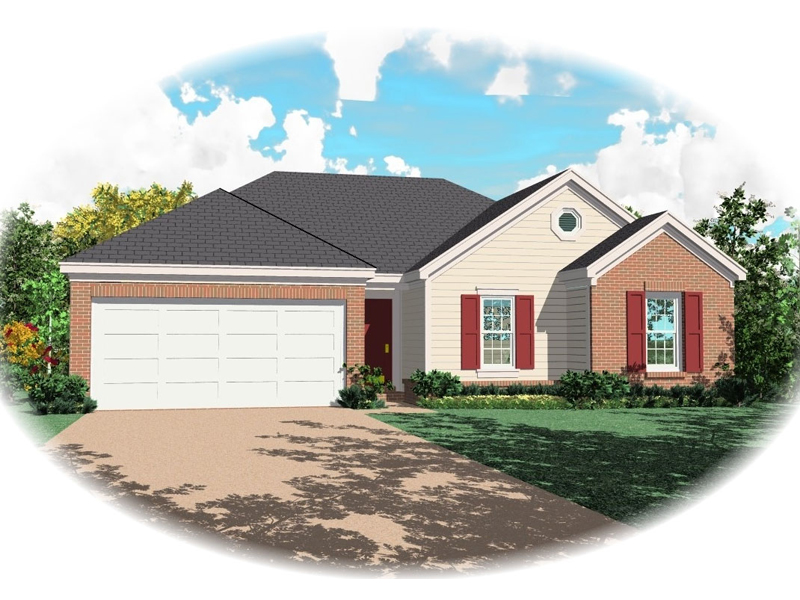 Country House Plan Front of Home - 087D-0027 | House Plans and More