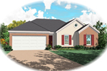 Ranch House Plan Front of Home - 087D-0027 | House Plans and More