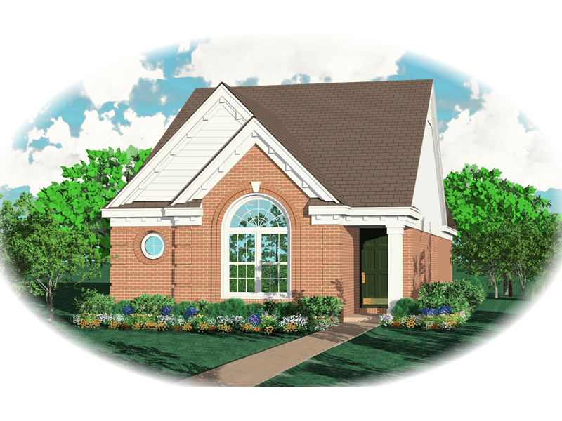 Southern House Plan Front of Home - 087D-0028 | House Plans and More