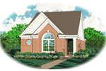 Ranch House Plan Front of Home - 087D-0028 | House Plans and More