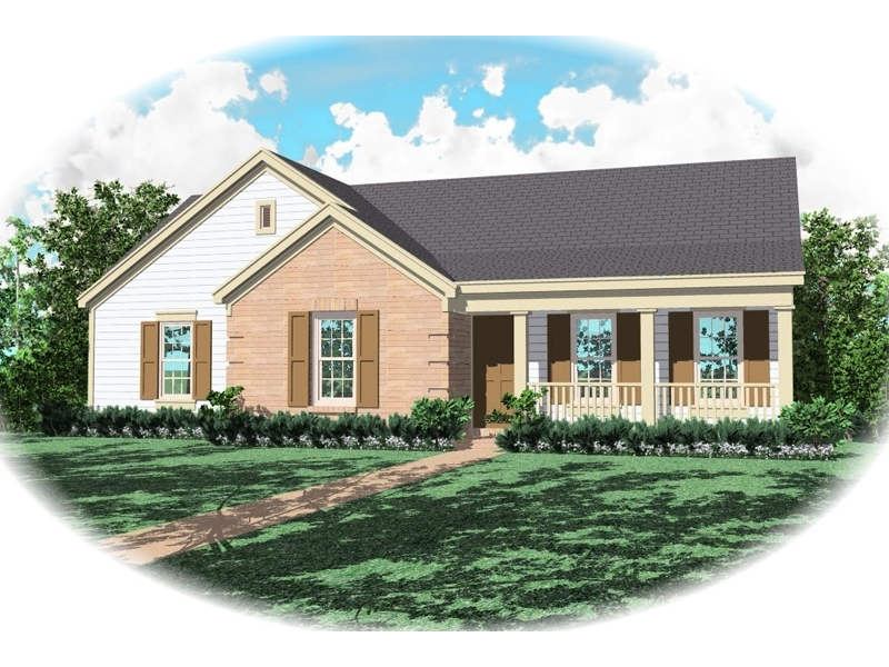 Ranch House Plan Front of Home - 087D-0031 | House Plans and More