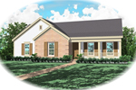 Country House Plan Front of Home - 087D-0031 | House Plans and More