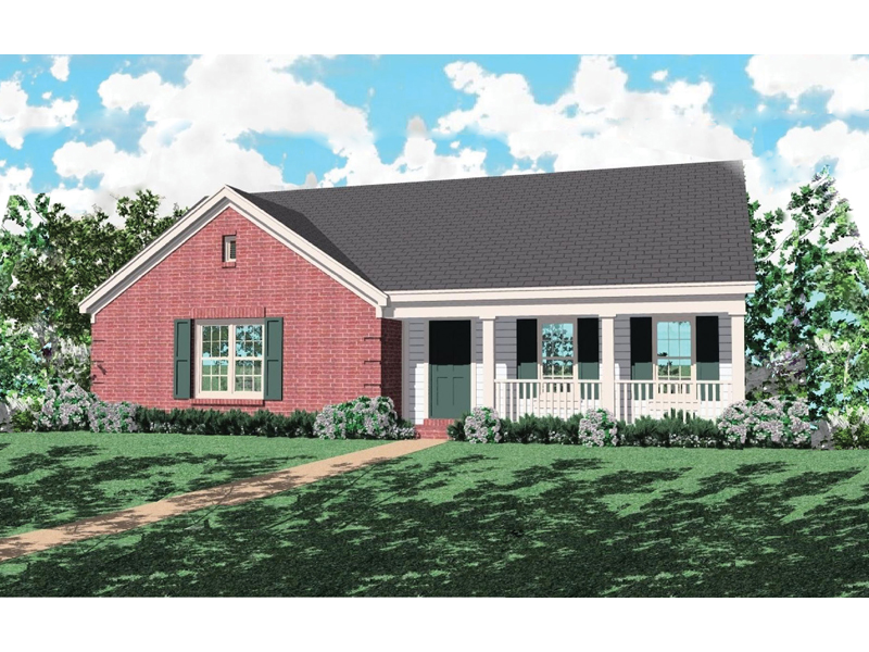 Traditional House Plan Front of Home - 087D-0032 | House Plans and More