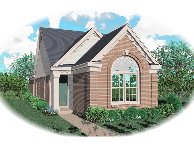 Ranch House Plan Front of Home - 087D-0033 | House Plans and More