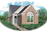 Southern House Plan Front of Home - 087D-0033 | House Plans and More