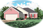 Ranch House Plan Front of Home - 087D-0034 | House Plans and More