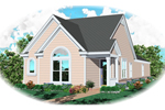 Vacation Home Plan Front of Home - 087D-0035 | House Plans and More