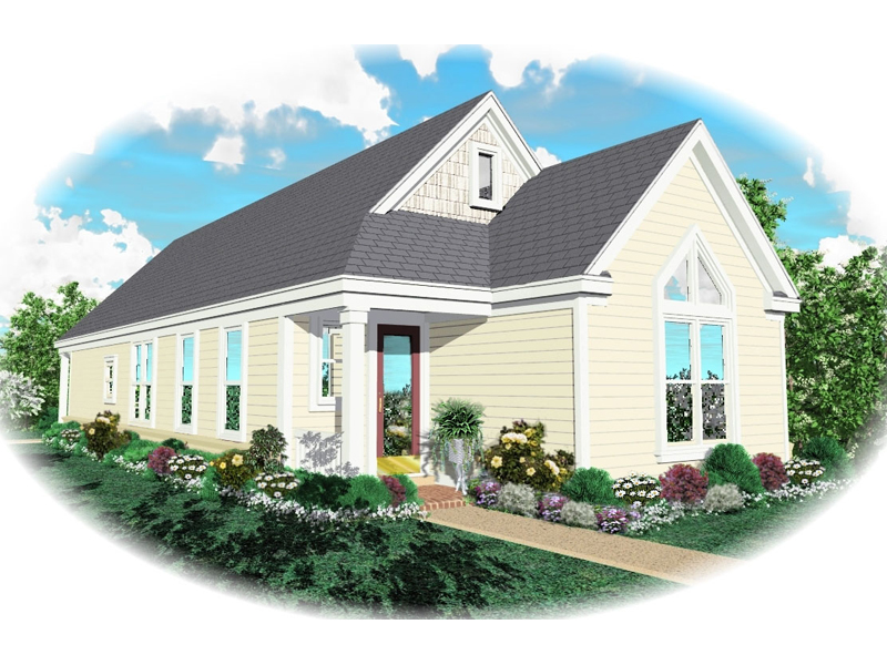 Ranch House Plan Front of Home - 087D-0037 | House Plans and More