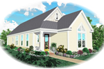 Vacation Home Plan Front of Home - 087D-0037 | House Plans and More