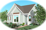 Vacation Home Plan Front of Home - 087D-0038 | House Plans and More