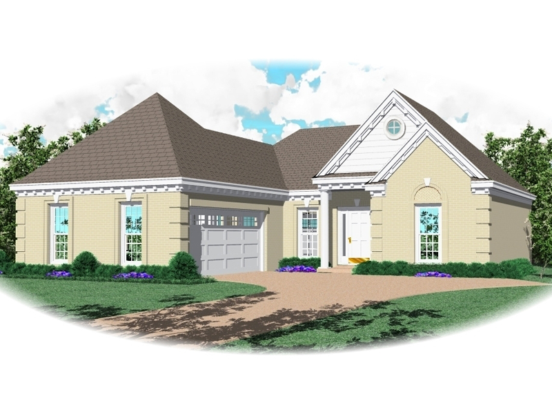Ranch House Plan Front of Home - 087D-0040 | House Plans and More