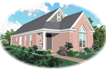Neoclassical Home Plan Front of Home - 087D-0041 | House Plans and More