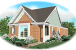 Vacation Home Plan Front of Home - 087D-0042 | House Plans and More