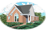 Ranch House Plan Front of Home - 087D-0043 | House Plans and More