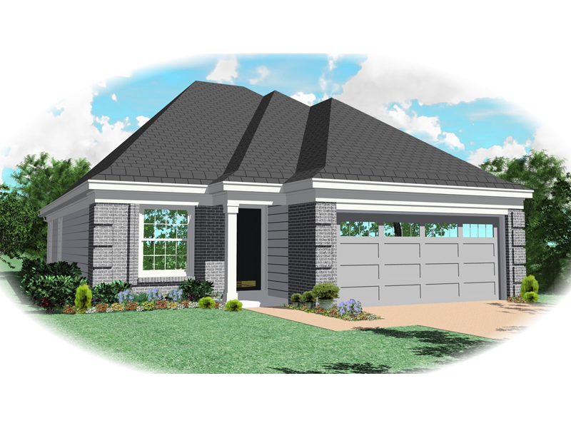 Ranch House Plan Front of Home - 087D-0044 | House Plans and More