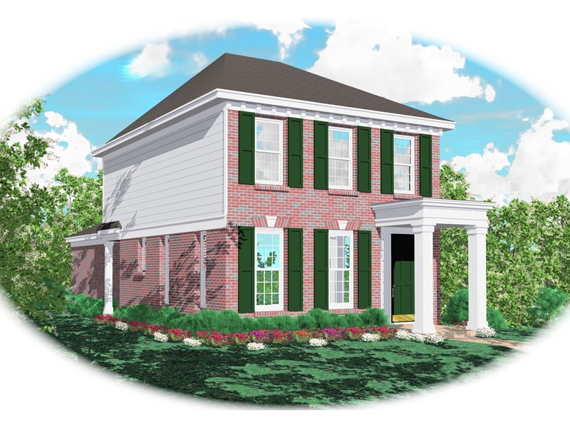 Colonial House Plan Front of Home - 087D-0045 | House Plans and More