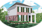 Colonial Floor Plan Front of Home - 087D-0045 | House Plans and More