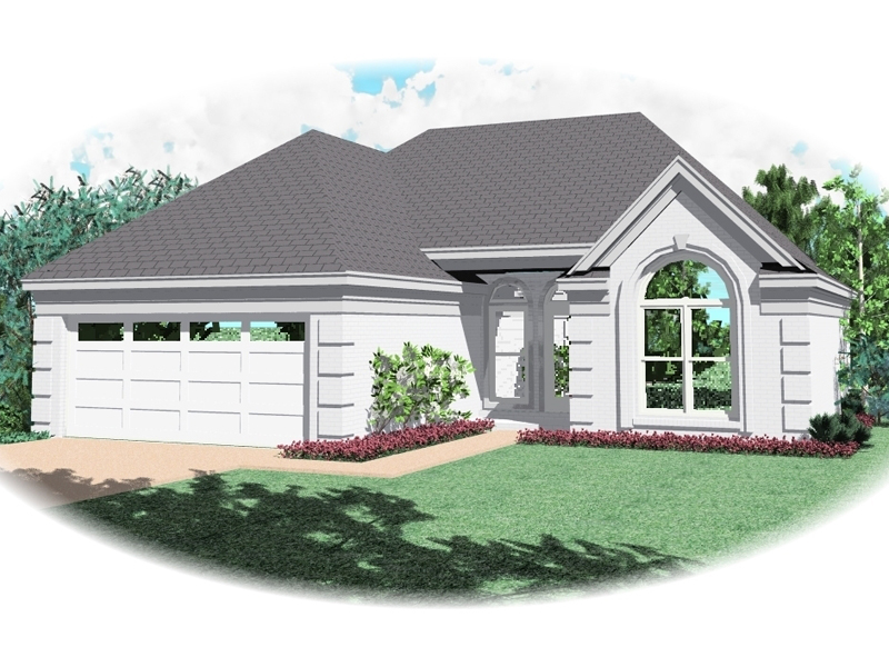 Ranch House Plan Front of Home - 087D-0046 | House Plans and More