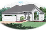 Sunbelt Home Plan Front of Home - 087D-0046 | House Plans and More