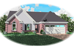 Ranch House Plan Front of Home - 087D-0048 | House Plans and More