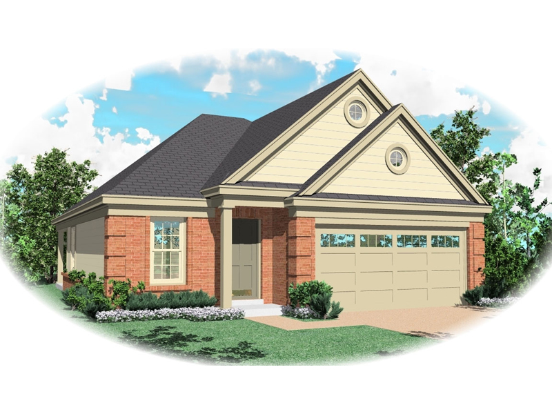 Ranch House Plan Front of Home - 087D-0049 | House Plans and More