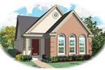 Ranch Narrow Lot Home Features Stylish Window Accents